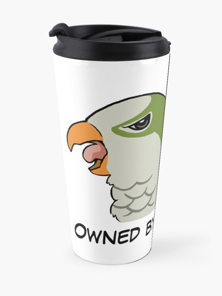 Alternate view of Owned by a green quaker Travel Mug