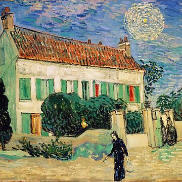 White House at Night by Vincent Van Gogh by przezajac