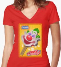 Killer Klown Popsicle Women's Fitted V-Neck T-Shirt