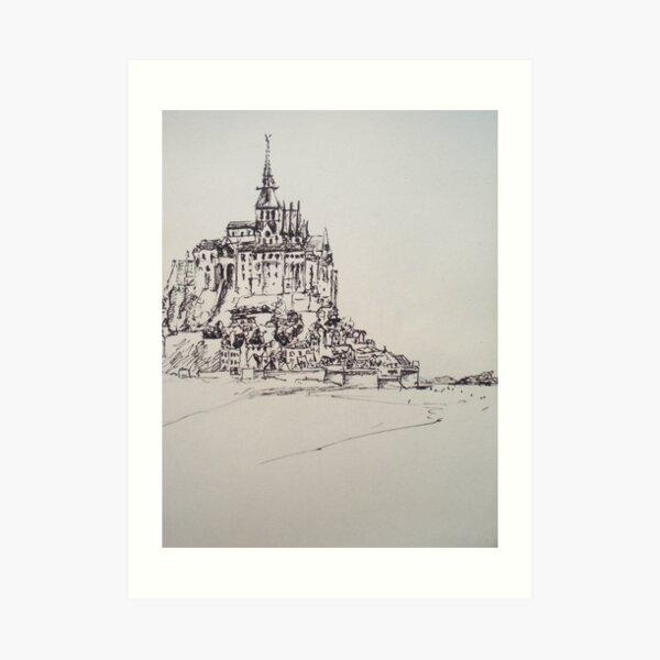 Le Mont Saint Michel Art Print