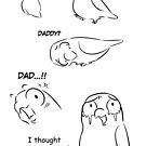 Separation anxiety on pet birds - Dad version by lifewithbirds