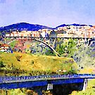 Catanzaro: view of the city with bridges by Giuseppe Cocco