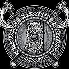 Fenrir Viking Shield (Grayscale) by celthammerclub