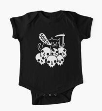 Cat Got Your Soul? Short Sleeve Baby One-Piece