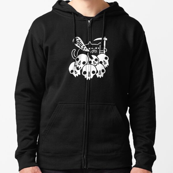 Cat Got Your Soul? Zipped Hoodie