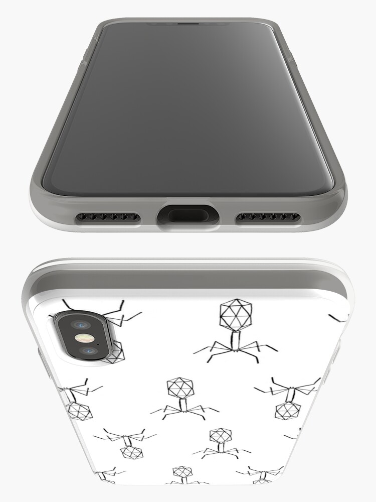 Alternate view of minimalist virus pattern iPhone Case & Cover
