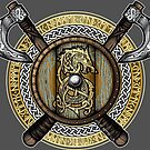 Fenrir Viking Shield (Full Color) by celthammerclub