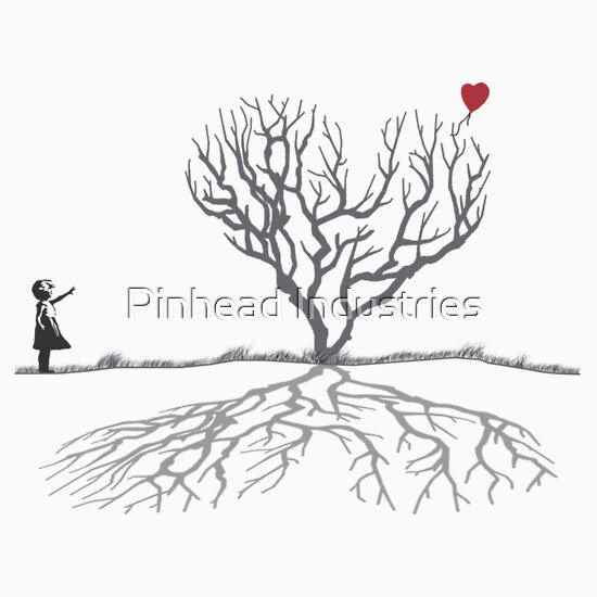 TShirtGifter presents: Banksy Heart Tree Shirt