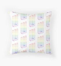 LGBT+ rainbow Paramore symbol Throw Pillow