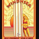 WINDNSEA LA JOLLA CALIFORNIA SURFING by Larry Butterworth
