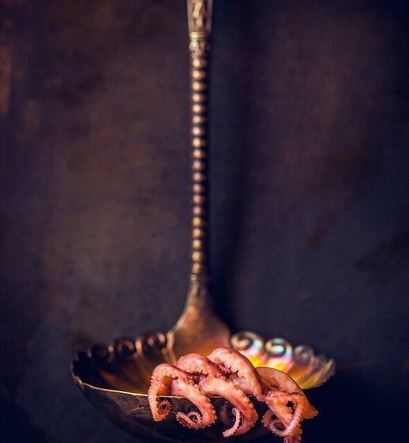 Slimy, slithery, sinuous, suck-ulent cephalopod Saturday by alan shapiro