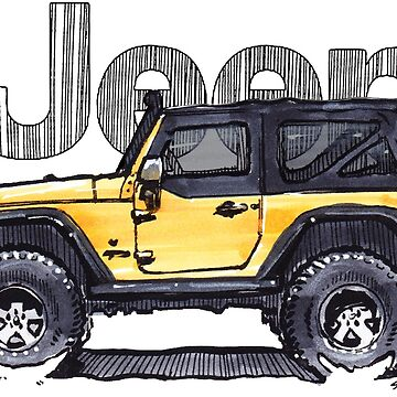 JK Wrangler 2dr - Yellow by robert1117