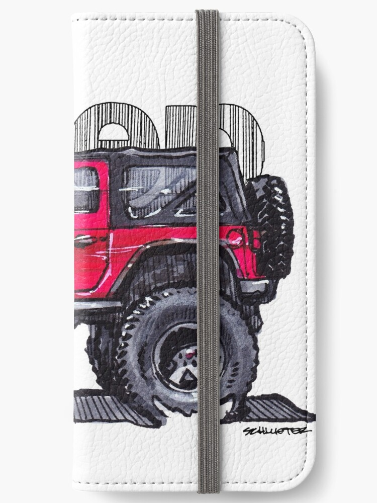 Jeep Wrangler Lifted >> Jk Wrangler Lifted 2dr Red Iphone Wallet By Robert1117