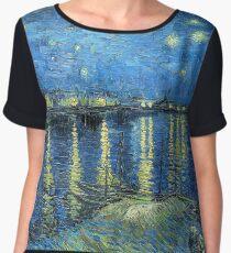 Starry Night Over the Rhone Chiffon Top