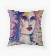 Young Woman Throw Pillow