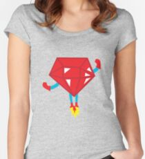 Ruby power Women's Fitted Scoop T-Shirt