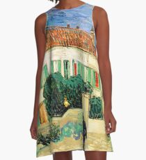 White House at Night-Vincent van Gogh A-Line Dress