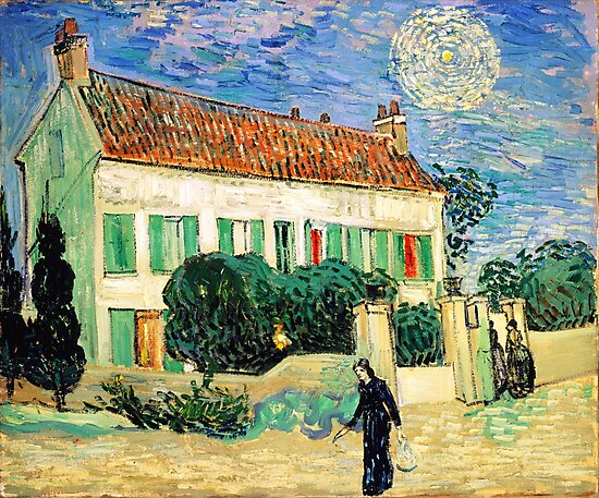 White House at Night-Vincent van Gogh by Igor Drondin