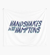 Handshakes in the Hamptons Wall Tapestry