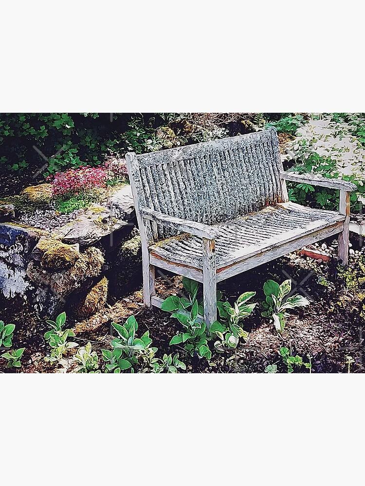 Garden Bench in Sunlight by BethsdaleArt
