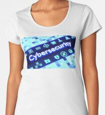 Iconic Cybersecurity  Women's Premium T-Shirt