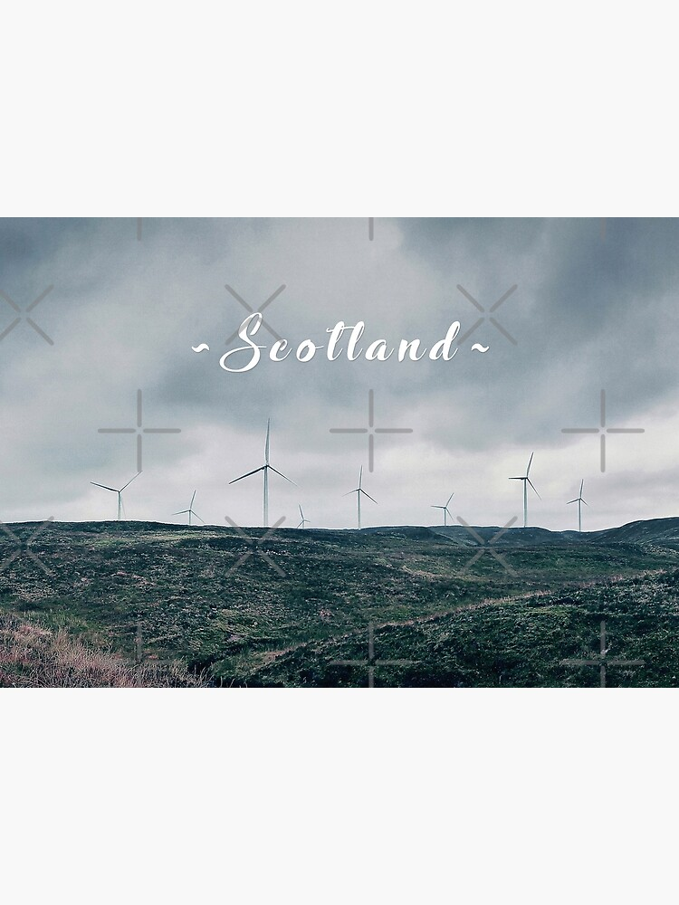 Wind Turbines in the Scottish Highlands by BethsdaleArt