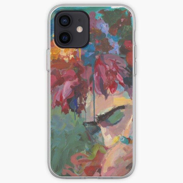 Con flores Funda blanda para iPhone