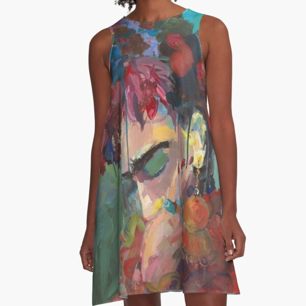 With Flowers A-Line Dress