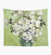 Vase of Roses Wall Tapestry
