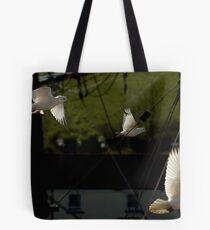 Flock of Doves Tote Bag