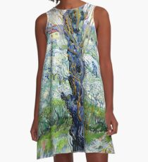 View of Arles, flowering orchards A-Line Dress