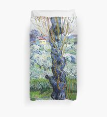 View of Arles, flowering orchards Duvet Cover