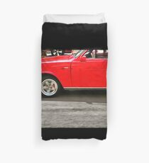 Red Car Duvet Cover