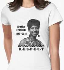 Aretha Franklin   1942 - 2018   Respect Women's Fitted T-Shirt