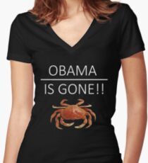 Obama Is Gone!! Women's Fitted V-Neck T-Shirt