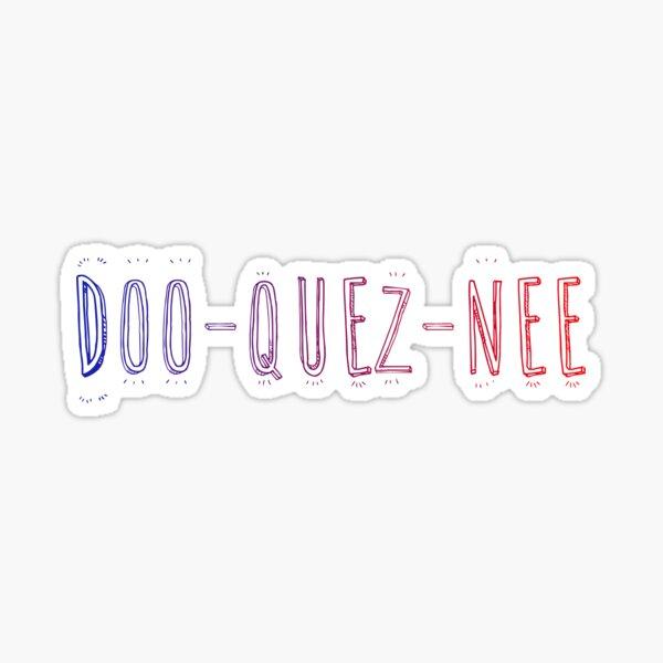 Doo Quez Nee colorful Sticker
