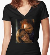 Child's Play 2 - Kyle & Chucky Fitted V-Neck T-Shirt