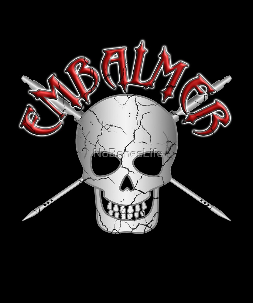 Embalmer Skull with Trocars by NoBonesLife