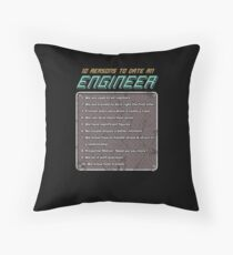10 Reasons To Date An Engineer Throw Pillow