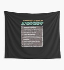 10 Reasons To Date An Engineer Wall Tapestry
