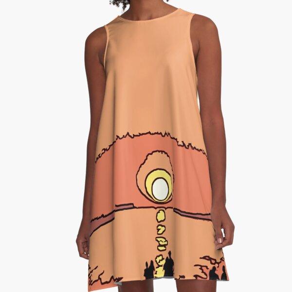 Cretan Sunset A-Line Dress