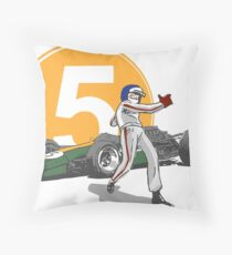 Speed Racer - Jim Clark Throw Pillow