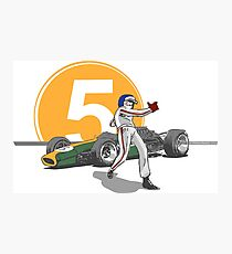 Speed Racer - Jim Clark Photographic Print