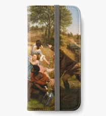 Mrs. Schuyler Burning Her Wheat Fields on the Approach of the British iPhone Wallet/Case/Skin