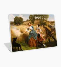 Mrs. Schuyler Burning Her Wheat Fields on the Approach of the British Laptop Skin