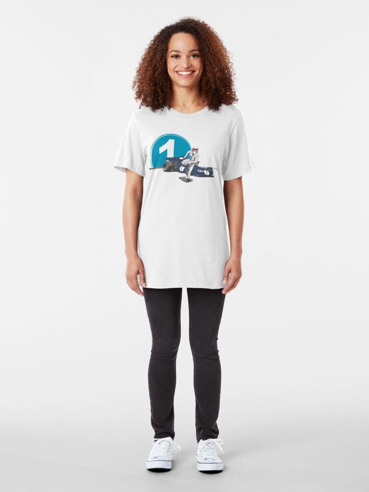 Alternate view of Speed Racer - Jackie Stewart Slim Fit T-Shirt