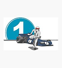 Speed Racer - Jackie Stewart Photographic Print