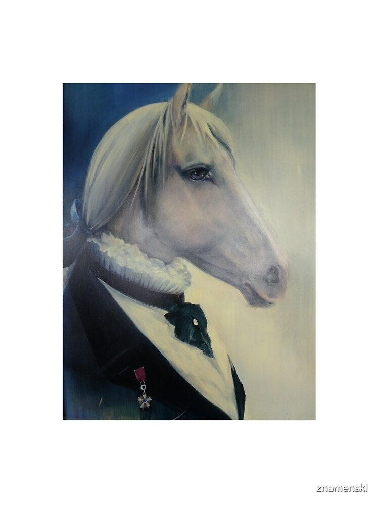 #Portrait of a #horse in #profile in #coat and with an #order. Quebec, #Quebec, Canada, #Canada, #funiculaire, #funiculer, Mane, #Mane by znamenski