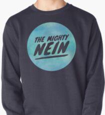 Mighty Nein Retro Logo- Tranquil Blue Pullover Sweatshirt