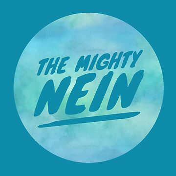 Mighty Nein Retro Logo- Tranquil Blue by JMendezArt